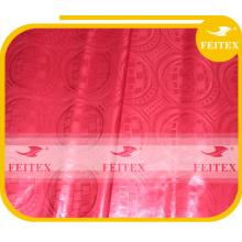 Tissus africains rouges bazin riche pour la robe de mariée 100% coton vêtements brocart ventes