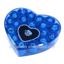 Любовь розы Валентина, день подарков мыло