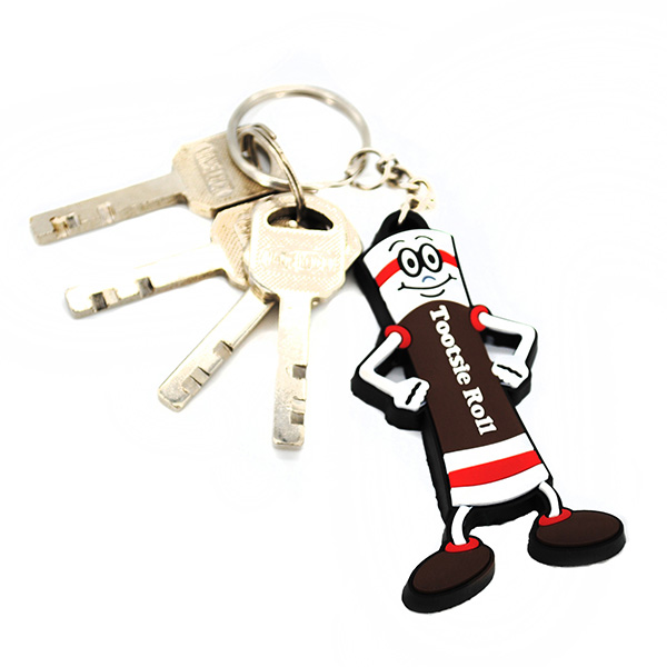 ,Personalized 3D PVC Soft Key Rings
