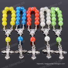 Pretty Mixed Colour Frosted Glass Beads Handmade Rosary Bracelet