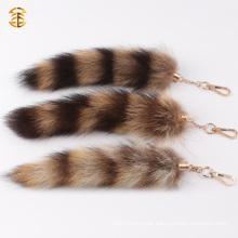 Genuine Cute Fox Fur Tail Keyring For Bag Charm