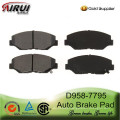 high quality auto brake pads for Accura,Honda Civic,Element,pilot