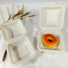 Wholesale 100% Biodegradable and Compostable Disposable Cornstarch Plastic Takeaway Food Burger Container