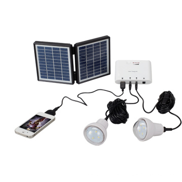 2LED 0.9W Super Bright Bulbs Kit de iluminación solar
