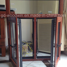 Foshan Window Double Tempered Glass Wood and Aluminum Composite Window