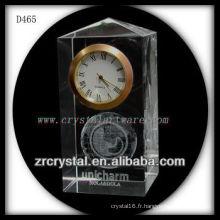 K9 3D Laser Subsurface Image à l'intérieur de l'horloge en cristal