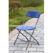 Chaise pliante plastique en plastique bleu pour la fête
