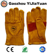 Hochwertige Rindsleder-Arbeitsfahrer Handschuhe