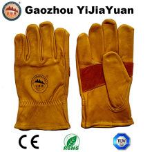 Cuero de vaca de alta calidad Drivers de trabajo guantes