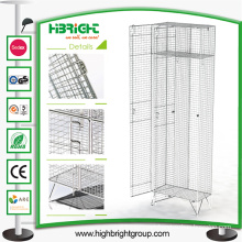 2 Doors Zinc Plated Wire Mesh Lockers