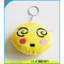 Hot Selling Novelty Design Vários Funny Emoji Keychain com Expressão Facial