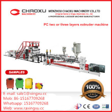PC Two or Three Layer Plate Sheet Luggage Extruder Plastic Machinery