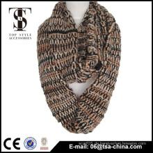 Acryl gestrickt chinesischen Stil Winter bunten Loop Schal