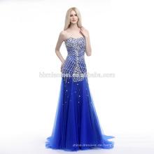 Tiefer saphirblaue ong Hülse im Schwanz Europa und Amerika neue Art Schönes Abendkleid neues Modell 2016 Hochzeitskleid
