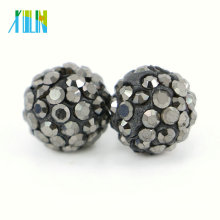New Arrival Jewelry Shamballa Crystal Rhinestone Beads for Necklace Size 4mm-18mm , IB00118 - Silver Hemtatie