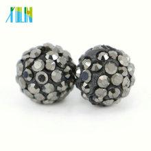Chegada nova Jóias Shamballa Cristal Rhinestone Beads para Colar Tamanho 4mm-18mm, IB00118 - Prata Hemtatie