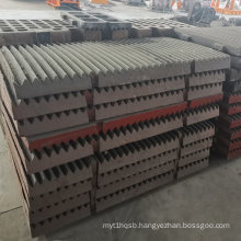 Mining Consumable Parts Jaw Crusher Spares Jaw Liner Plate used in Mine Crushers