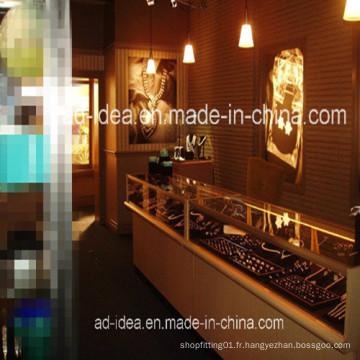 Armoires de salle d'exposition de bijoux de Cabinet de Cabinet / LED Light Platfond de bijoux de haute qualité