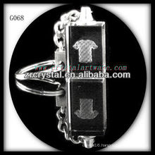 laser etched crystal keychain and blank crystal G068