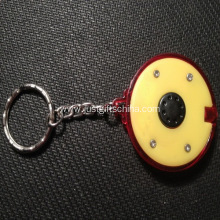 Promotional Round Led Keyrings One Button Touch