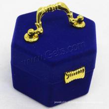 Gets.com veludo de safira e anel de ouro tamanho k