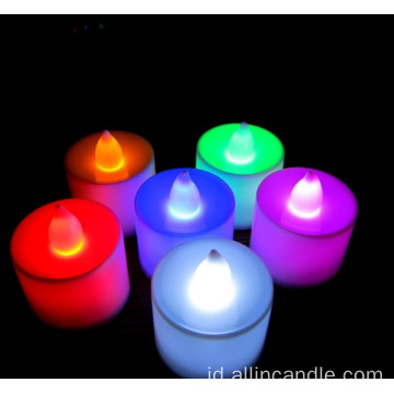 Flameless dipimpin lilin teh cahaya lilin LED