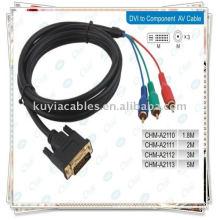 CABLE DE COMPONENTE DVI A 3RCA PARA LAPTOP PC LCD TV