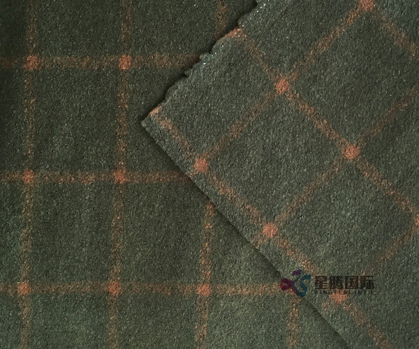 Check Wool Blend Fabric