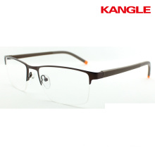 ready half rim metal optical frame eyeglass frames
