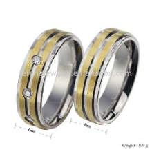 Bandas de ouro e prata personalizadas para casais, anel de ouro dos namorados anel 22k