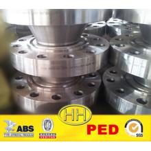 China Supplier, ANSI B16.47 cl 2500 brida de cuello de soldadura con PED
