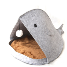warm plush shark beak pet house durable pet