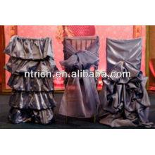 Chiavari Stuhlhussen für Hochzeiten, universelle Stuhlhussen mit Rüschen