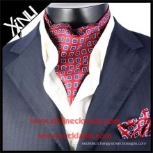 High Quality Mens New Fashion Silk Printed Ascot Cravat