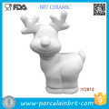 DIY Rudolph White Blank Unpainted Ceramic Painting