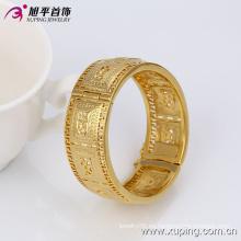 51350 Fashion Nice Design Elegante joyería de gran ancho de oro en aleación de cobre