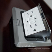 Universal surge protection GFCI floor plug sockets