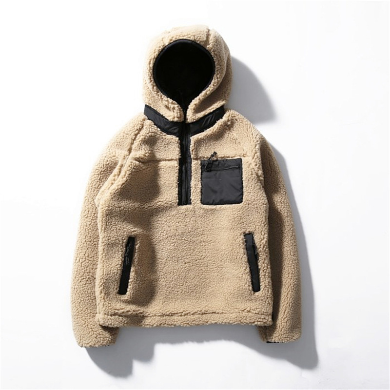 Mens Sherpa Pullover Jacket