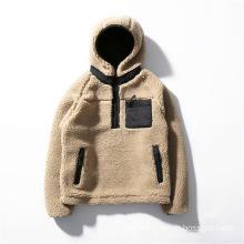 Wholesale Fashion Mens Sherpa Pullover Jacket Custom
