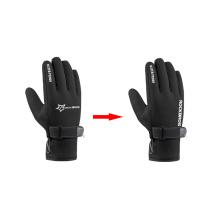 Winter Windproof Cycling Gloves Fleece Keep Warm Bicycle Glove Ultra-Thick Silica Gel Anti-Slip Anti-Shock Bike Gloves