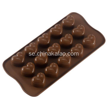 Star Shell och Heart Shape Silicone Candy Molds