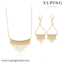 63609- Xuping Fashion 18K Gold Plated 2-PCS Jewelry Set