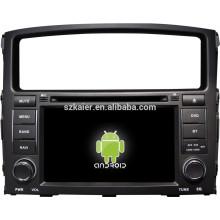 Система Android автомобиля мультимедийный плеер для Mitsubishi Pajero с GPS,есть Bluetooth,3G и iPod,игры,двойной зоны,управления рулевого колеса