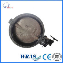 Beautiful design worm actuated underground pipe network flange butterfly valve