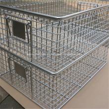 Cestas de desinfección de metal Cesta de almacenamiento Cesta de malla de alambre