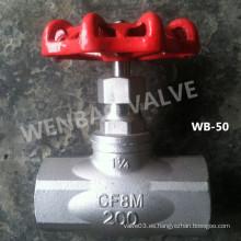 "Válvula de globo roscada CF8m hembra 11/4 ""200wog"