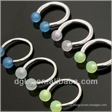 14 gauge HorseShoe piercing with glow ball