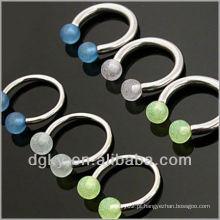 14 gauge HorseShoe piercing com bola de brilho
