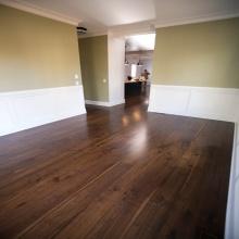 Antirisca projetado piso de madeira de nogueira americana
