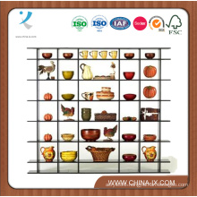 7′ Wide Free Standing Gondola Wooden Display Rack